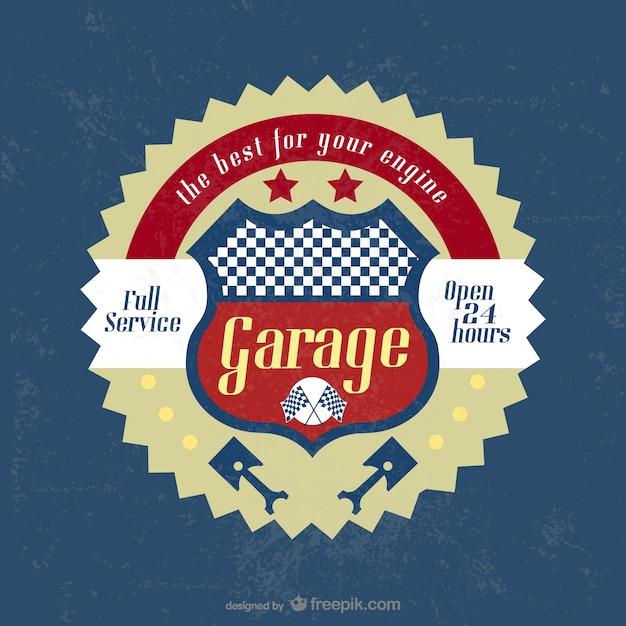 vintage garage badge vector free download