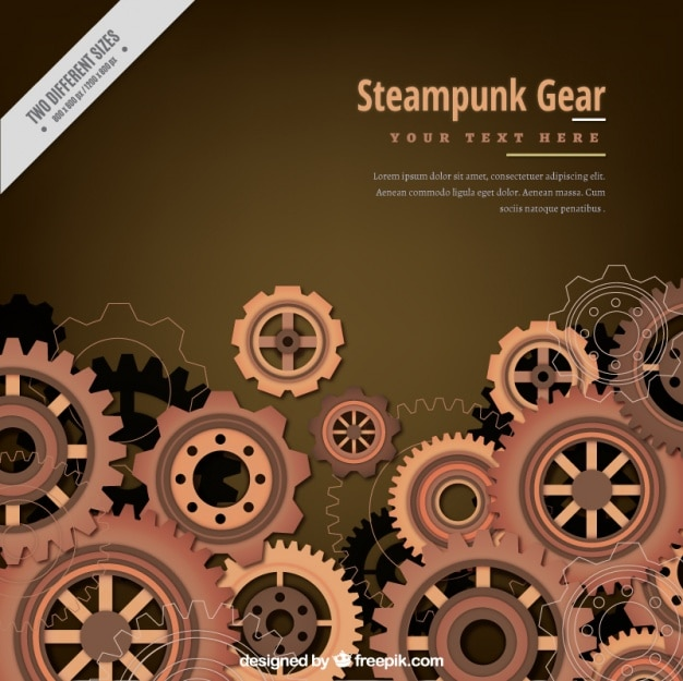 vintage gear background Free Vector