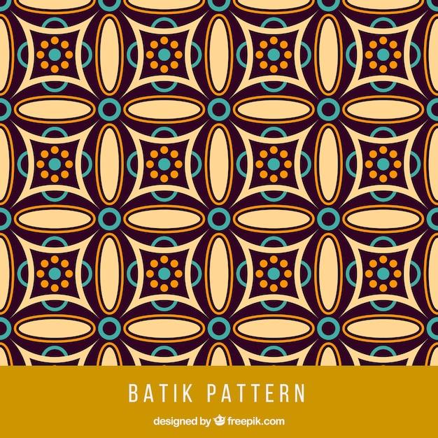 Vintage Geometric Batik Pattern Vector