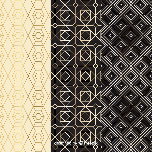 Vintage geometric luxury collection pattern Free Vector
