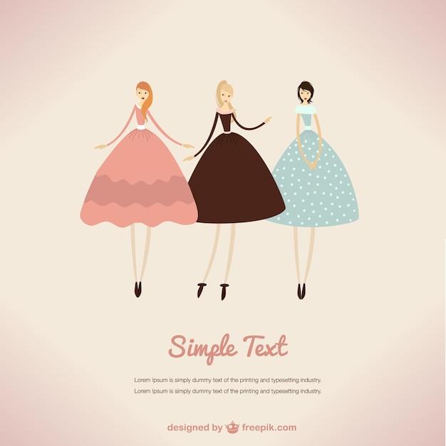 Vintage glamour illustration  Free Vector