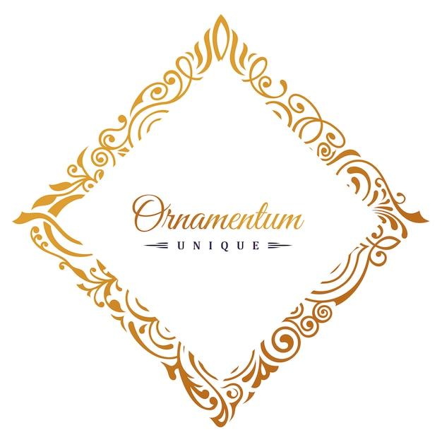Старинная золотая рамка Premium векторы