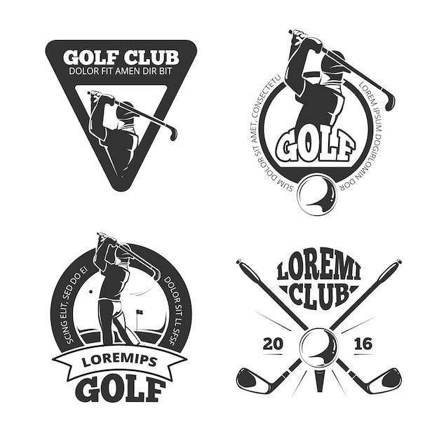 Vintage golf club labels, emblems, badges and logos. Premium Vector