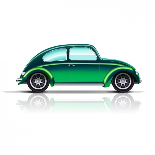 Vintage Green Car Vector Free Download
