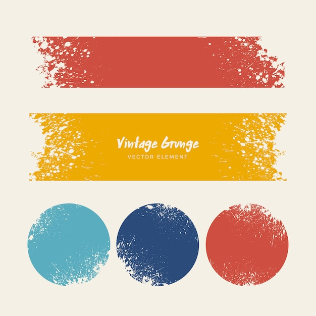 Vintage grunge distressed backgrounds collection Free Vector