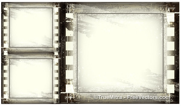 vintage grunge frames background vector free download