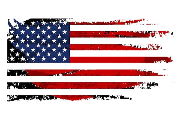 ビンテージグランジ米国旗 Premiumベクター