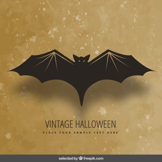 Vintage halloween bat Free Vector