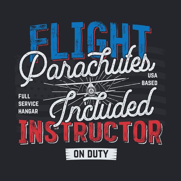 ヴィンテージ手描き飛行イラスト Premiumベクター