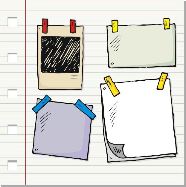 ヴィンテージ手描きフォトフレームコレクション Premiumベクター