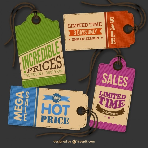 Vintage Hanging Tags Vector  Free Download