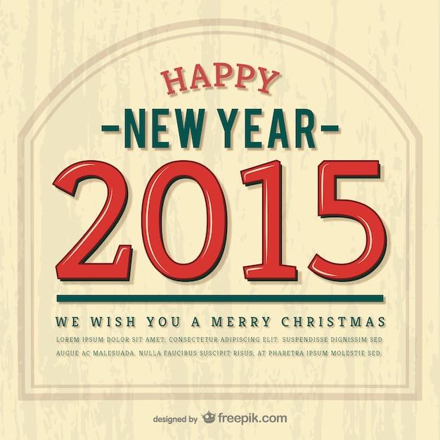 Vintage happy 2015 vector Free Vector