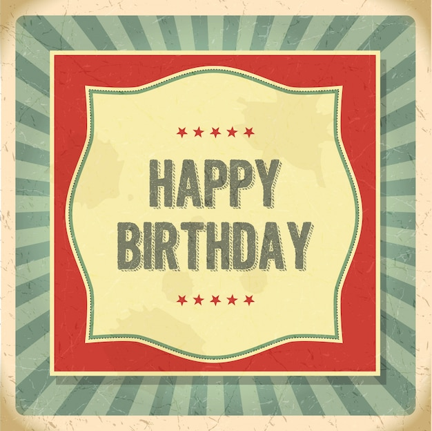 Vintage happy birthday card vector free download vintage happy birthday card free vector bookmarktalkfo Image collections