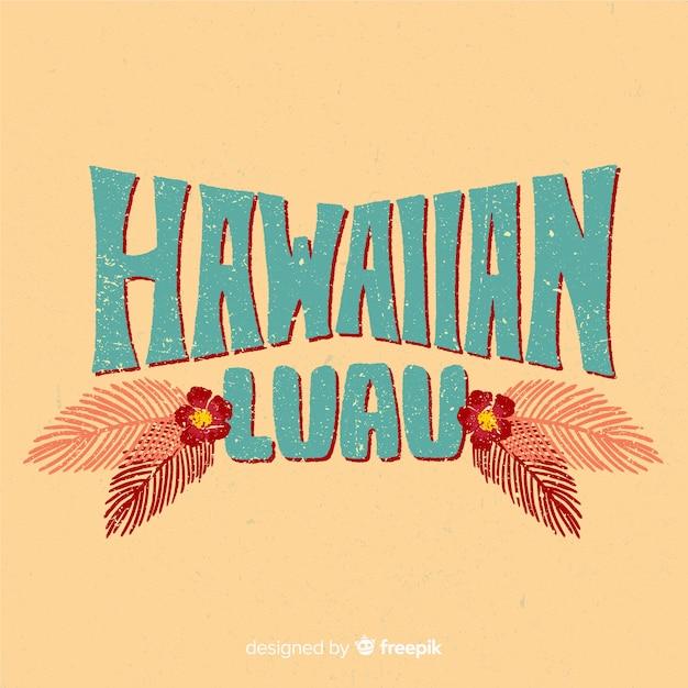 Vintage hawaiian luau background Free Vector