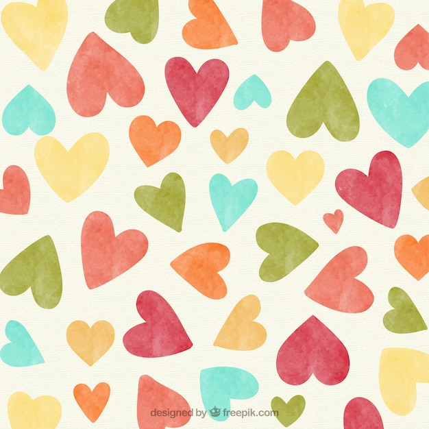 Vintage hearts background Free Vector
