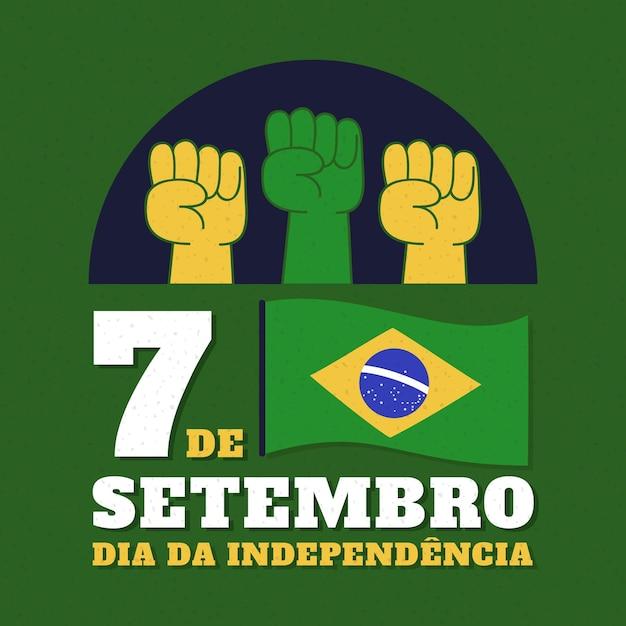 ブラジルの概念のヴィンテージ独立記念日 無料ベクター