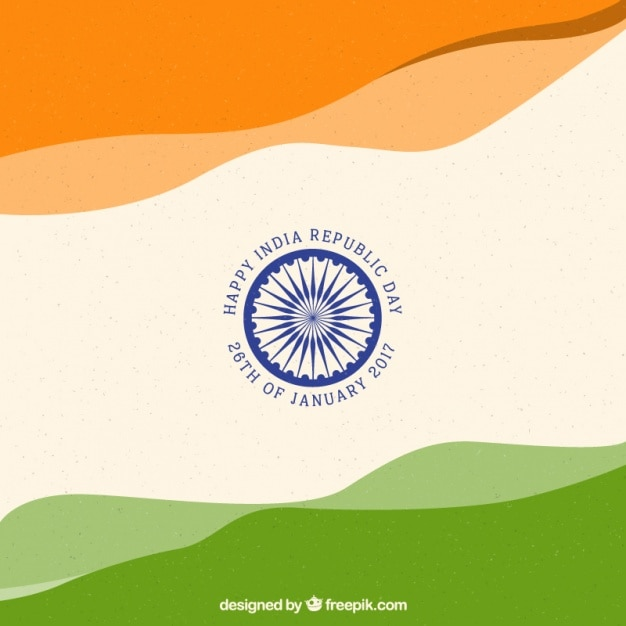 Vintage indian republic day background