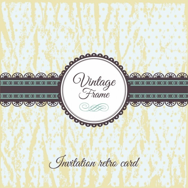Vintage invitation card vector free download vintage invitation card free vector stopboris Choice Image