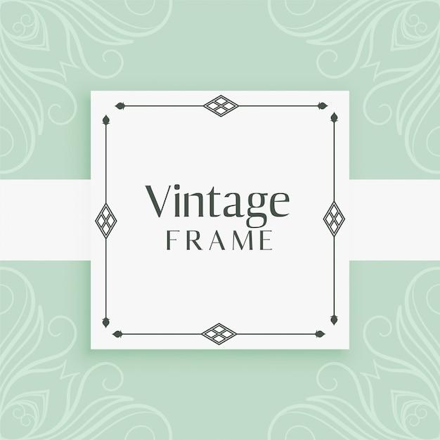 Vintage invitation frame decorative background Free Vector