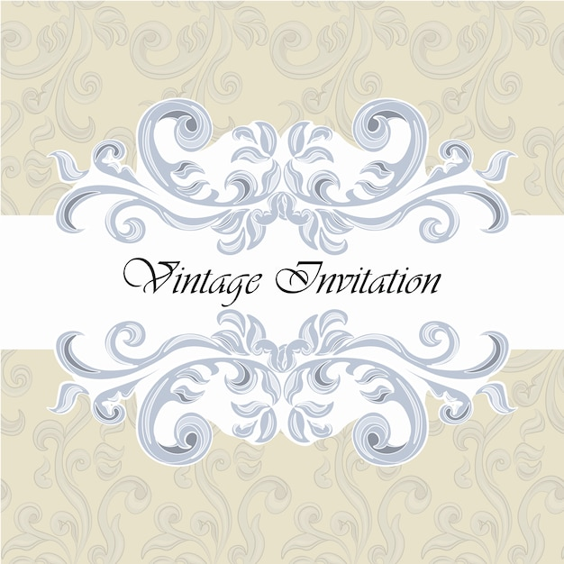 Vintage Invitation Template Vector | Free Download