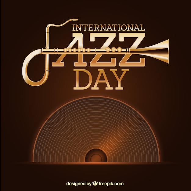 Vintage Jazz Background With Vinyl Vector Free Download