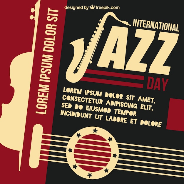 Vintage jazz background Vector | Free Download