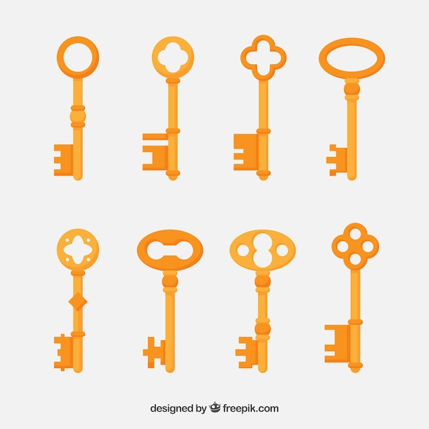 Vintage Key Collection Vector