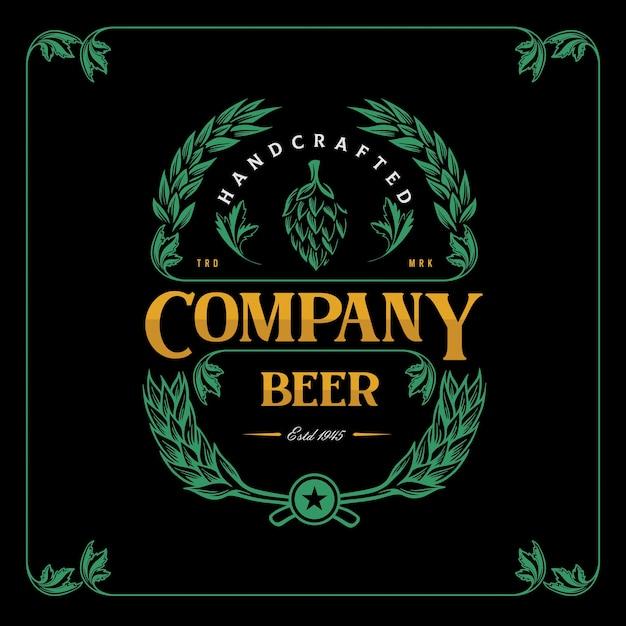 醸造会社のヴィンテージラベルビール Premiumベクター