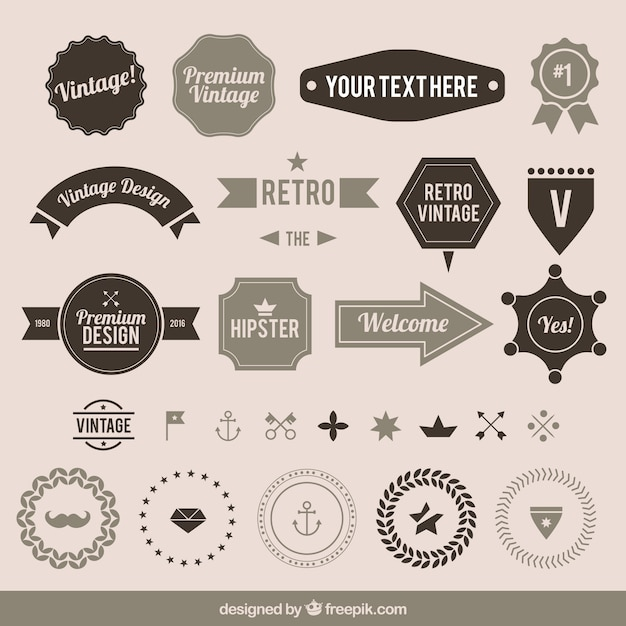 Vintage label collection Vector | Free Download