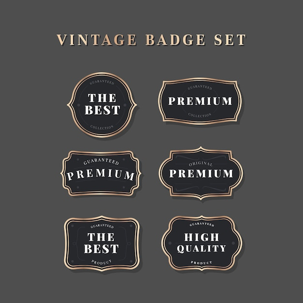 Vintage label collection Free Vector