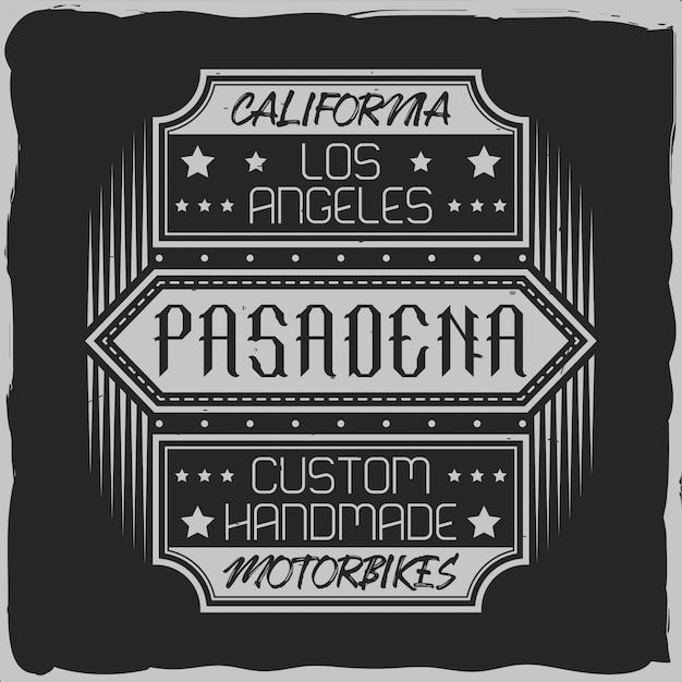 Vintage label design with lettering composition on dark background. Premium Vector