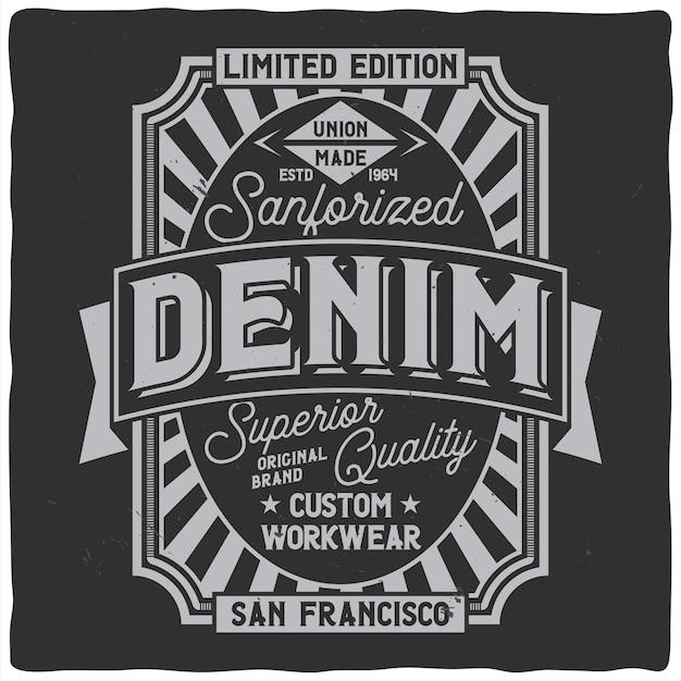 Design etichetta vintage con composizione scritta su oscurità Vettore gratuito