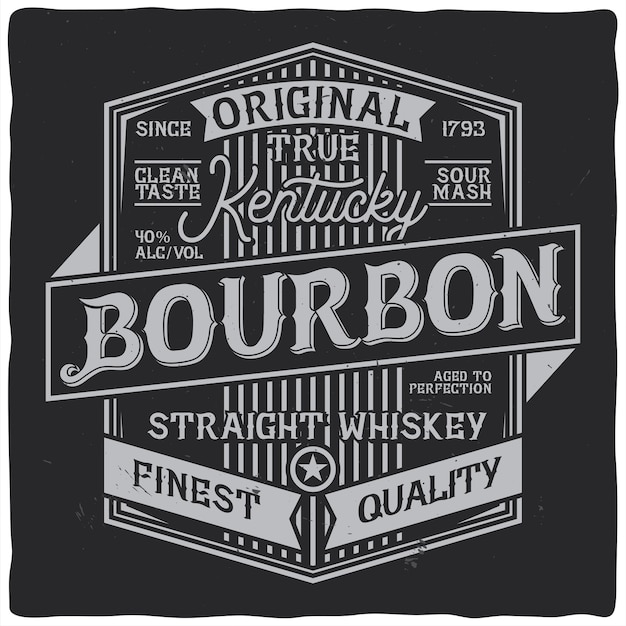 Vintage label design with lettering composition Free Vector