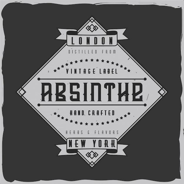 Vintage label design. | Premium Vector