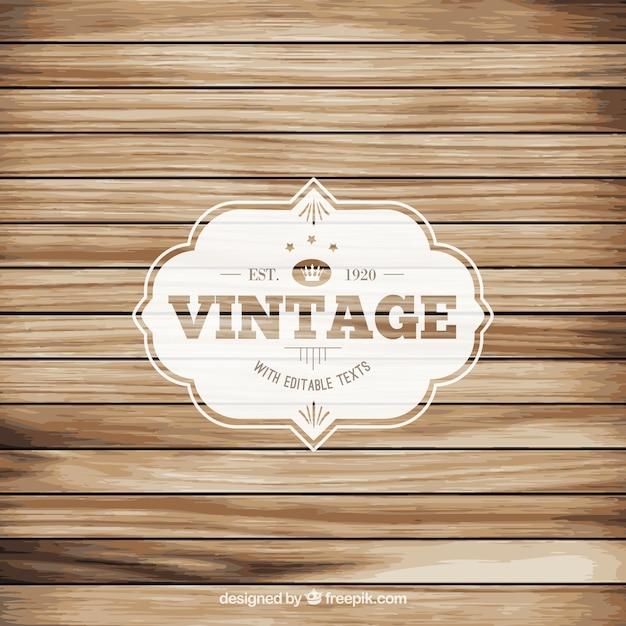 Vintage label on wood floor vector free download for Floor labels