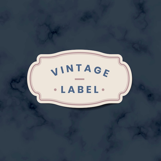 Vintage label sticker decorated with roses on vector Free Vector