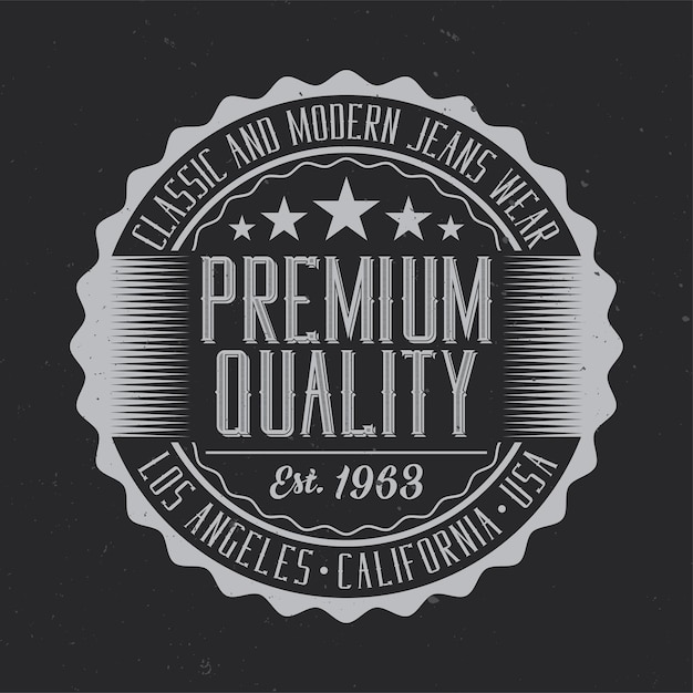 Vintage label with lettering composition Free Vector