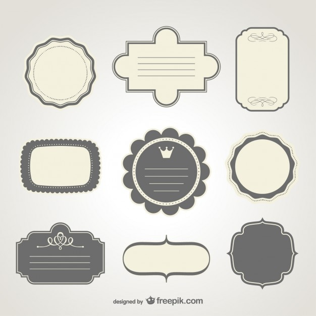 Vintage labels collection Vector | Free Download