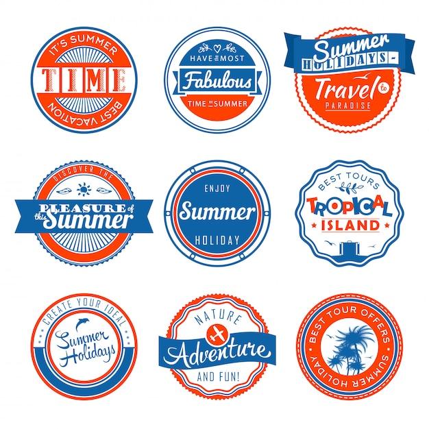 Vintage labels template set Premium Vector