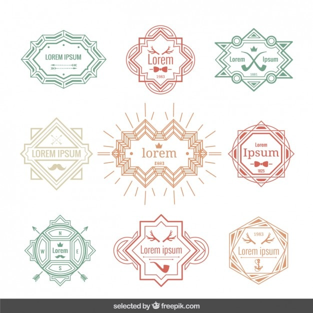Vintage labels template Vector | Free Download