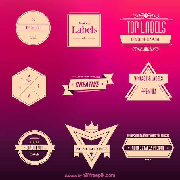 Vintage labels Free Vector
