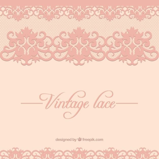 Vintage Lace Background Free Vector