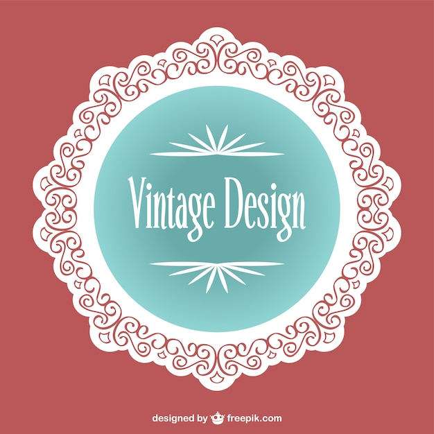 Vintage lace label design Vector | Free Download