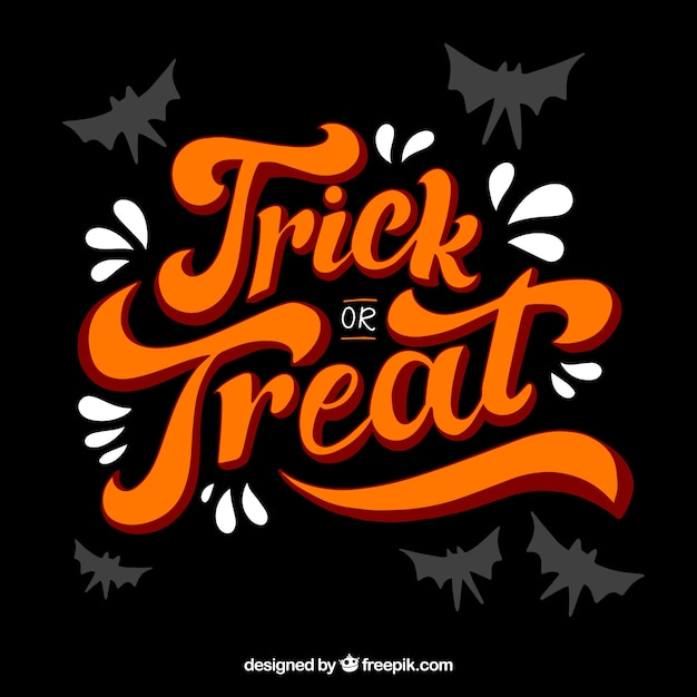 Vintage lettering trick or treat Free Vector