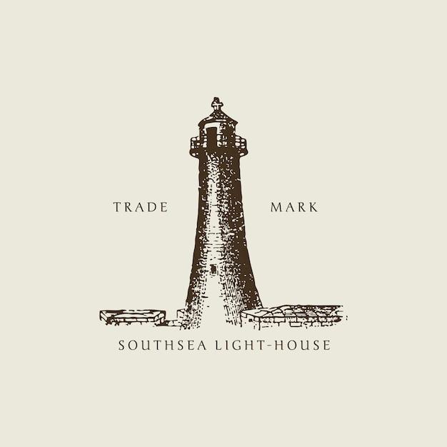 Vintage light house illustration Free Vector