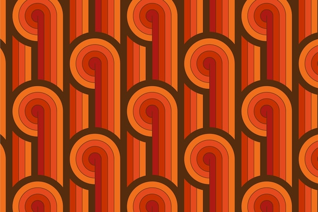 Vintage lines of geometric groovy seamless pattern Free Vector