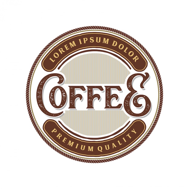 Vintage logo for coffee product or cafe shop Premium Vector