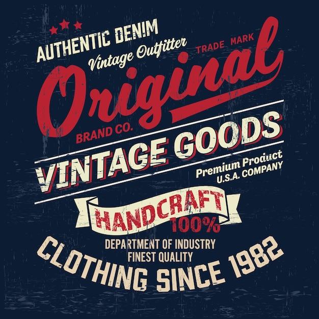 Vintage logo design Premium Vector