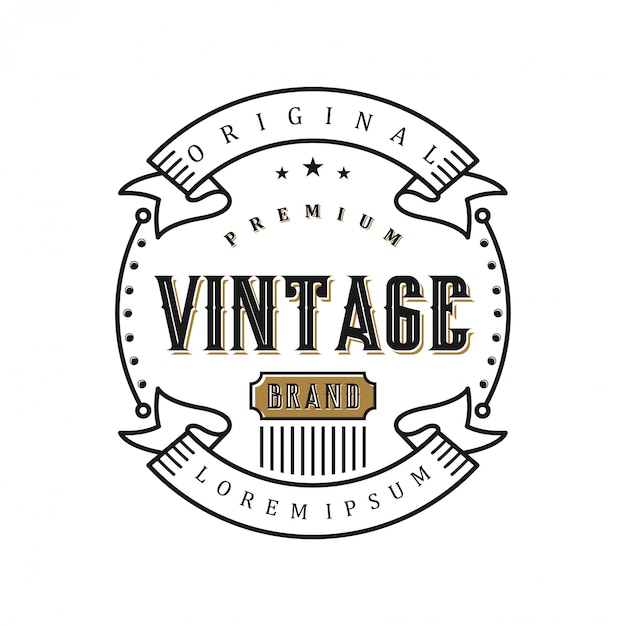 Vintage logo for food / drink labels or restaurants and cafes Premium Vector