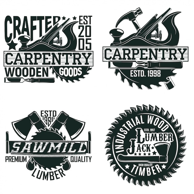 Винтажный логотип Premium векторы